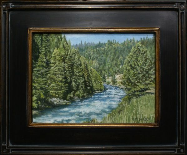 Click to view detail for Along the Cascade Road 9x12 $600