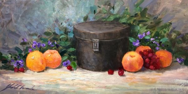 Antique Sugar Can 7x14 at Hunter Wolff Gallery