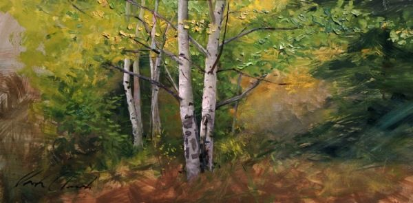 Click to view detail for Aspens And Light 10x20