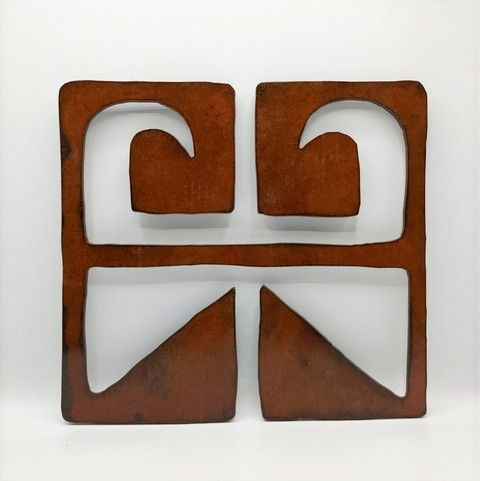 BB-062 Divergence II  12x12 at Hunter Wolff Gallery