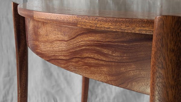 BEN-7022 Semi-Elliptical Sofa Table at Hunter Wolff Gallery