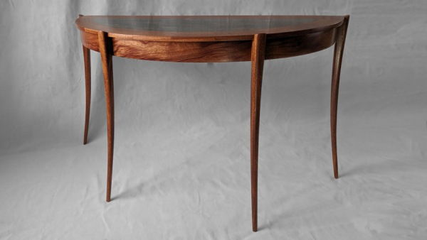 Click to view detail for BEN-7022 Semi-Elliptical Table, Mahogany 47x18x29 $2800