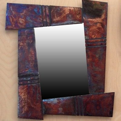Click to view detail for BW-002 Raku Wall Art & Mirror