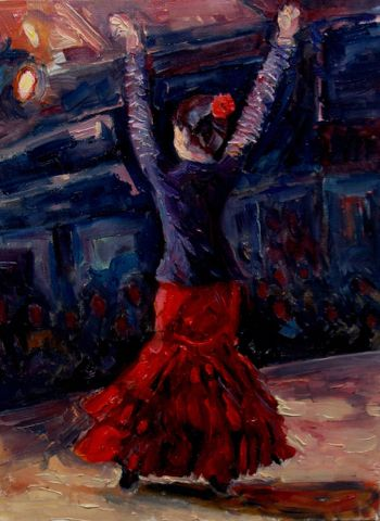 Click to view detail for Barcelona Flamenco 10x8