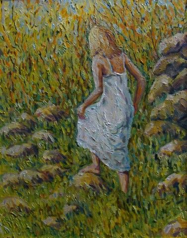 Barefoot Adventure 20x16 at Hunter Wolff Gallery