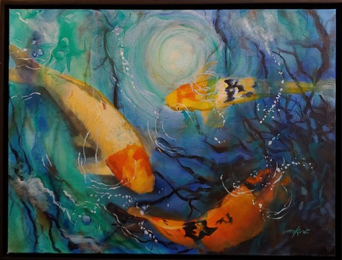 Click to view detail for Being Koi 18x24 $1200