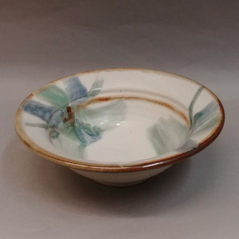 Click to view detail for Bowl 10x3 Blue & Green Splash