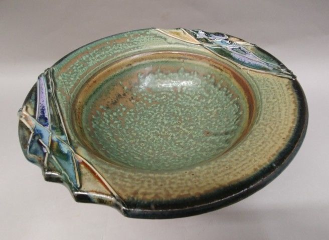 Click to view detail for Bowl - Green Glaze 10