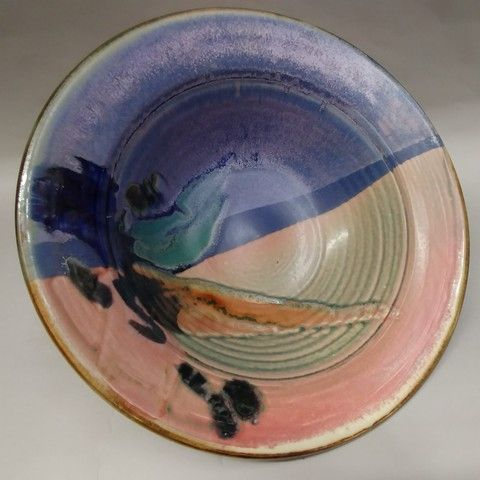Click to view detail for Bowl - Blue/Pink 13