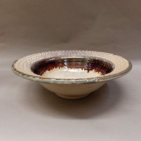 Click to view detail for Bowl with Textured Rim 12x4