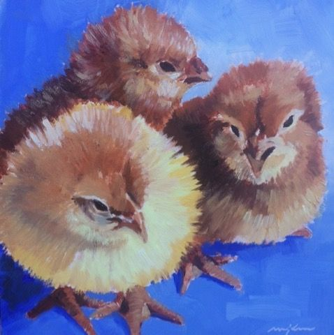 Chick Triplets at Hunter Wolff Gallery