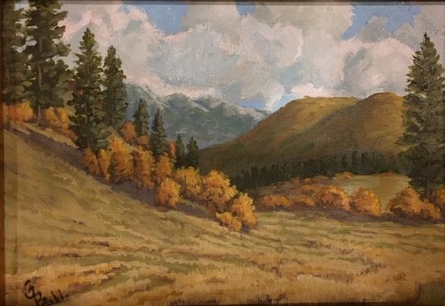 Click to view detail for Coyote Park, Fall Scrub Oaks 7 x 5