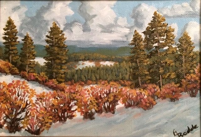 Click to view detail for Coyote Park, Snow in the Valley 7 x 5