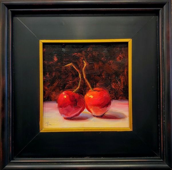 Click to view detail for Cozy Cherries 6x6 $275