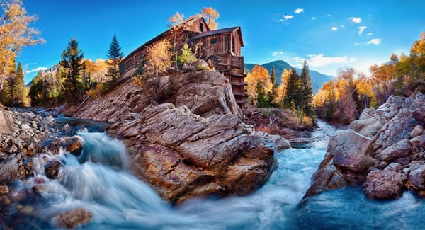 Crystal Mill Panorama 20x36 $640 at Hunter Wolff Gallery