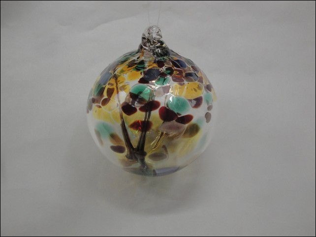 Click to view detail for DB-198 Ornament Witches Ball, Earth Tones