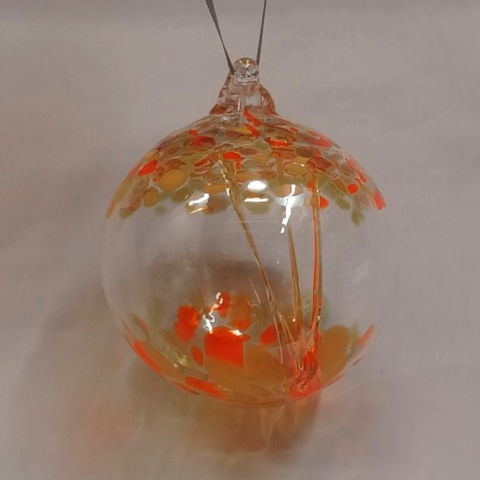 Click to view detail for DB-318 Ornament Witchball - Yellow