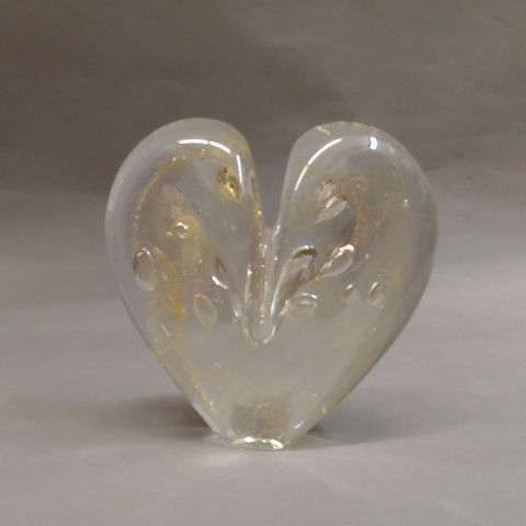 Click to view detail for DG-1 Heart Clear & 23K Gold, 4.5
