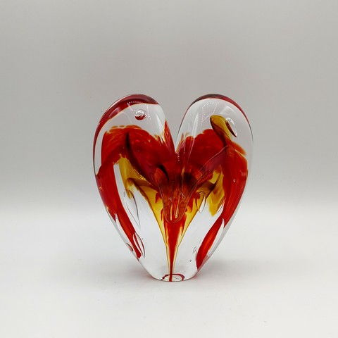 Click to view detail for DG-17 Heart - Cherry & Amber 5x4x2.5