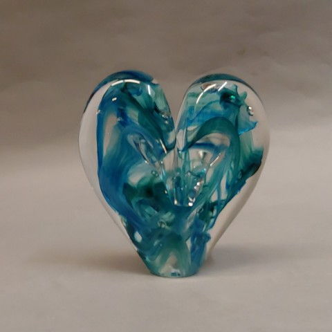 Click to view detail for DG-8 Heart Aqua & Teal T&O 5