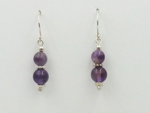 Click to view detail for DKC-1087 Earrings, Amethyst $60
