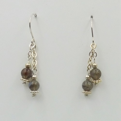 Click to view detail for DKC-1092 Earrings Labradorite Dangles $60