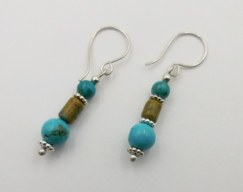 Click to view detail for DKC-1095 Earrings Mojave Turquoise $60