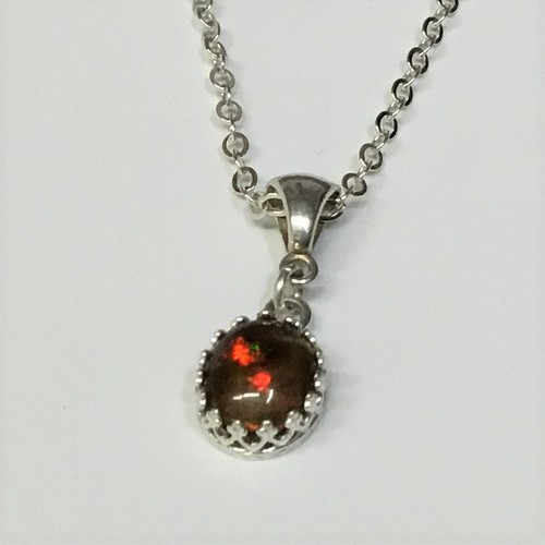 Click to view detail for DKC-1098 Necklace S/S & Ethiopian Opal $180