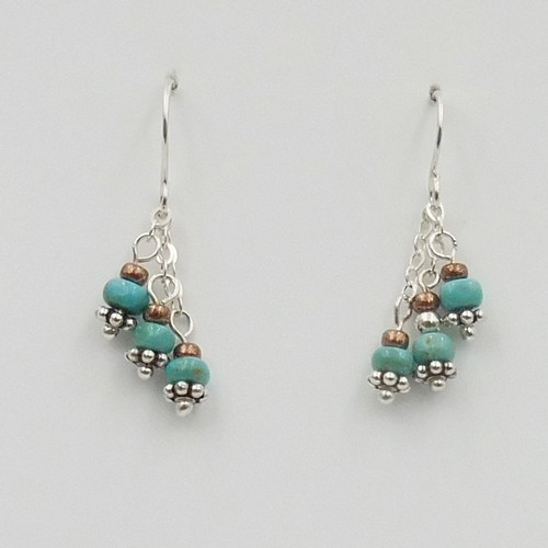 Click to view detail for DKC-1099 Earrings Kingman TQ $60