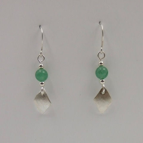 Click to view detail for DKC-890 Earrings, Aventurine