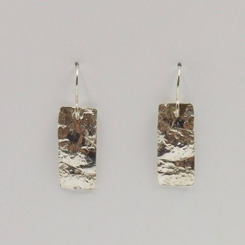 Click to view detail for DKC-893 Earrings, Argentium Sterling Silver