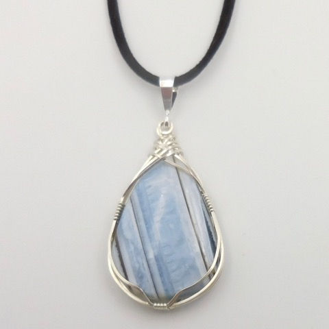 Click to view detail for DKC-904 Necklace, Turkish Blue Opal