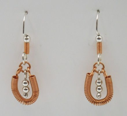 Click to view detail for DKC-929 Earrings Copper Hoops