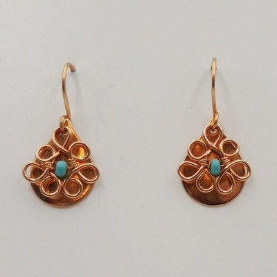 Click to view detail for DKC-932 Earrings Copper Small Teardrops TQ