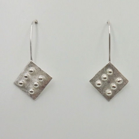 DKC-937 Earrings Small Square at Hunter Wolff Gallery