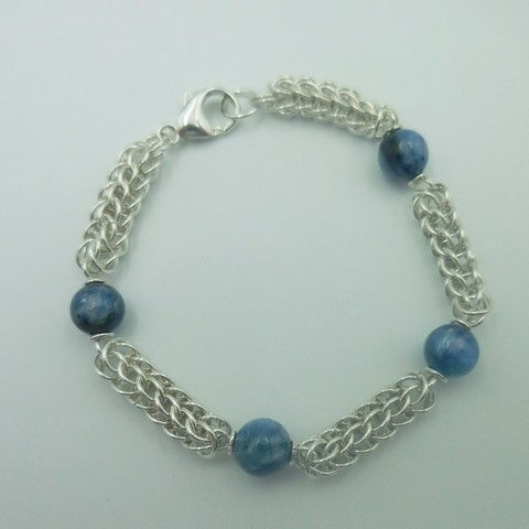 Click to view detail for DKC-954 Bracelet, Persian weave, Kyanite