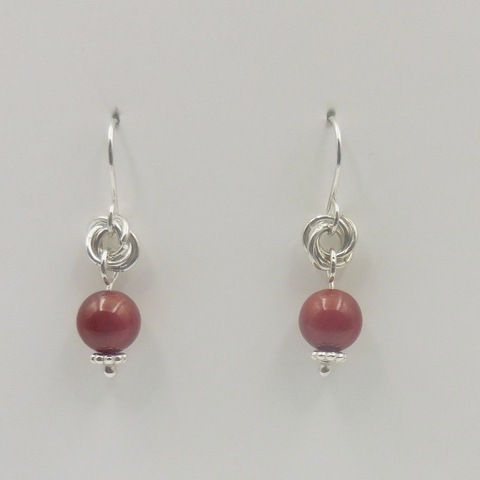 Click to view detail for DKC-959 Earrings, coral