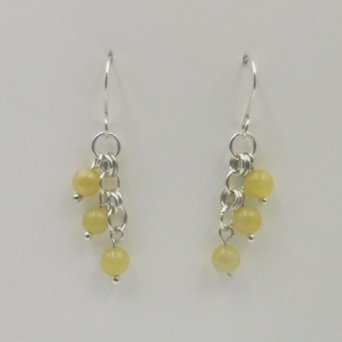 Click to view detail for DKC-961 Earrings, honey calcite