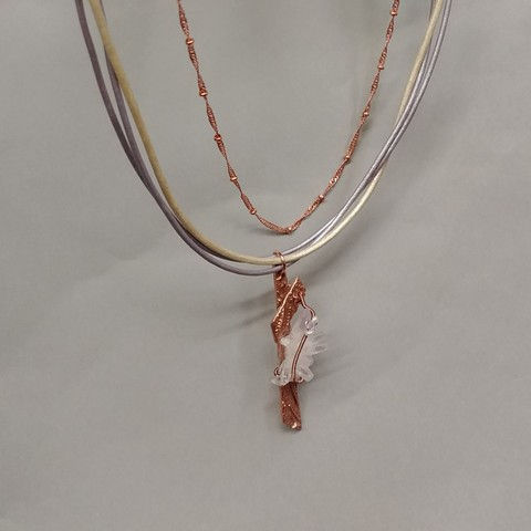 DM-018 Necklace Pendant Vera Cruz Crystal at Hunter Wolff Gallery