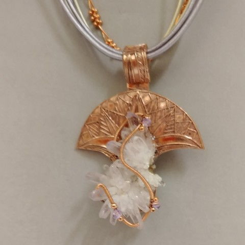 Click to view detail for DM-029 Pendant Vericruse Crystal & Copper