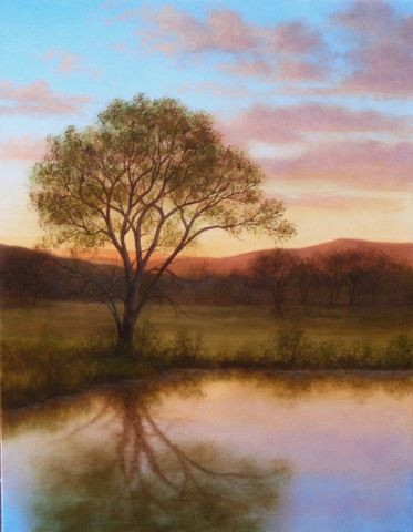 Click to view detail for Reflecting Cottonwood 18x14