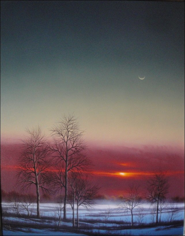 Winter Dusk at Hunter Wolff Gallery