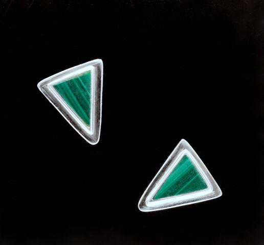Click to view detail for MB-E196m Earrings Spring Green Delta