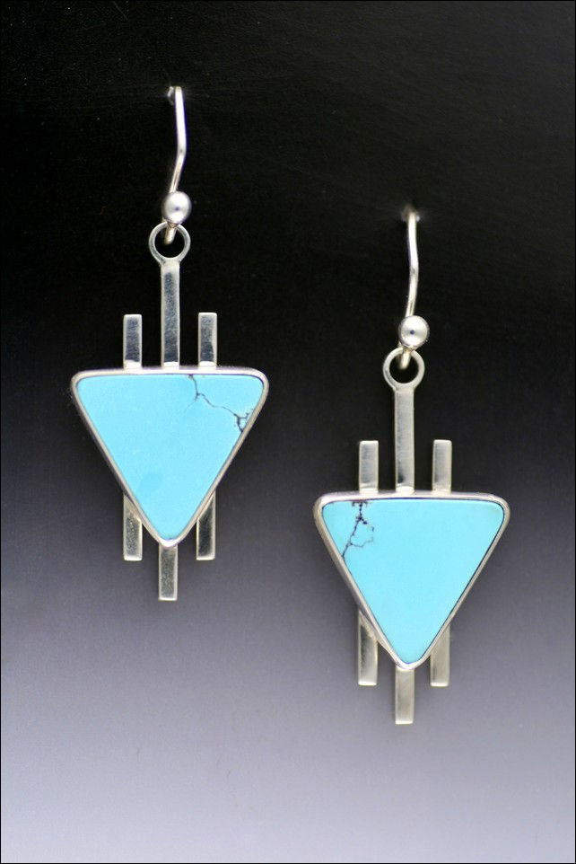 Click to view detail for MB-E254 Arrowheads Tibetan Turquoise