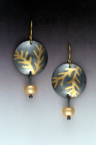 Click to view detail for MB-E298 Earrings Japanese Bowl