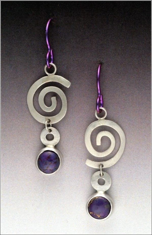 Click to view detail for MB-E342 Purple Spiral