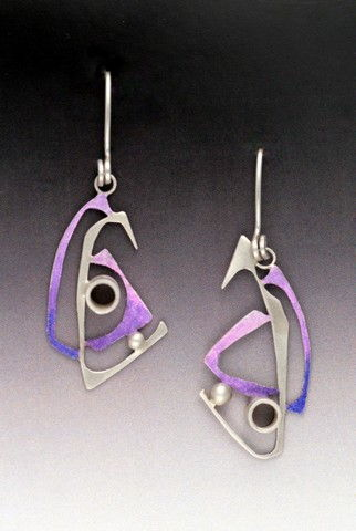 Click to view detail for MB-E360 Earrings Purple Sails
