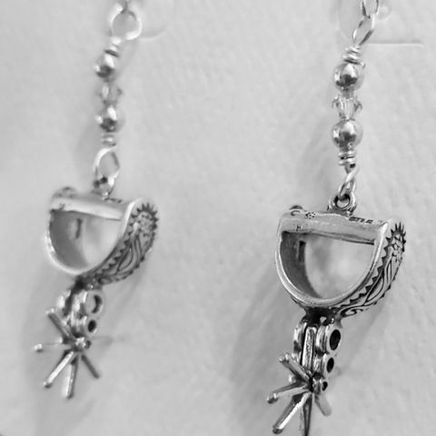 Click to view detail for DM-110 Earrings Sterling Silver Spurs $45