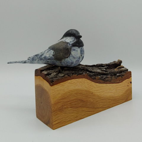 Click to view detail for FL060 Little Chickadee on Gamble Oak