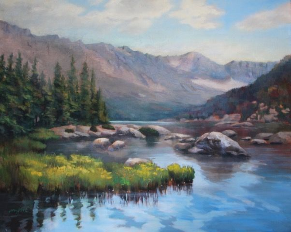 Click to view detail for Glacier Lakes 24x36